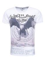 Key Largo Herren T-Shirt rundhals Vintage FEARLESS round kurzarm MT00215 offwhite weiß