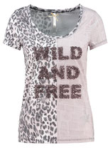 Key Largo Damen T-Shirt FREE round rundhals kurzarm Animal-Motiv WT00146 Kitt