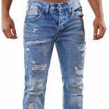 Redbridge Jeans Regular Fit RB-171 destroyed-used hellblau verwaschen
