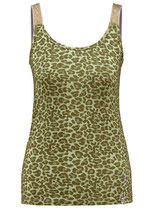 Key Largo Damen T-Shirt Mädchen Frauen Sexy Top KITTY round rundhals Animal-Motiv WT00174 khaki grün