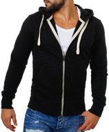 Young & Rich  Sweatjacke Sweatshirt Pullover Weste Jacke mit Kapuze 903 schwarz