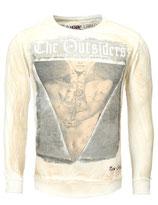 Key Largo Herren Pullover T-Shirt Longsleeve OUTSIDERS MSW00027 Vintage sand