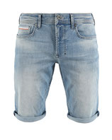 M.O.D Miracle of Denim Herren Jeans-Shorts Caprijeans Bermuda dunkelblau Thomas Amarillo blue
