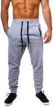 Young & Rich Herren Jungs Jogginghose Traininghose Sweatpants Hose 3313 grau