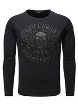 Key Largo Herren T-Shirt longsleeve Pullover DANGER Langarm MLS00032 schwarz