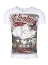 Key Largo Herren T-Shirt rundhals Vintage MONTANA round kurzarm MT00183 weiß