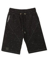 Rerock Herren Jungs Baggy Jogging Sweat Shorts Bermuda LAME 3340 schwarz
