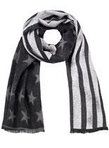 Key Largo Herren / Damen Unisex Schal COAST NATION scarf Tuch WA00069 grau grey-offwhite