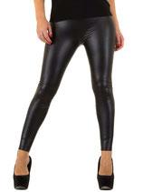 Holala Fashion Clubwear Party sexy Women Leggings Wetlook SS-BF 18619 schwarz