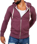 Young & Rich  Sweatjacke Sweatshirt Pullover Weste Jacke mit Kapuze 903 rot