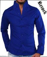 Rerock Hemd NIGHTY langarm 75110 saxe blau