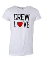 Befamous Herren Club Städte-deine Stadt T-Shirt CREW LOVE weiß rundhals