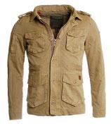 Young & Rich Parka Übergangs-Jacke Trenchcoat JK-404 beige