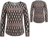 Key Largo Damen T-Shirt Pullover Rundhals langarm longsleeve Oberteil SHAPE WLS00235 round schwarz