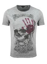 Key Largo Herren T-Shirt rundhals Vintage TOUCH round kurzarm MT00305 grau silver