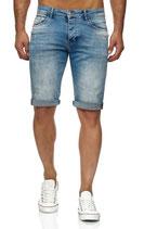 Redbridge Herren Jeans-Shorts Vintage Shorts Caprijeans destroyed Bermuda M4845 light blue hellblau