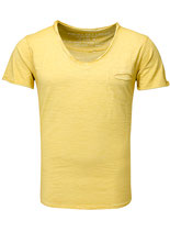 Key Largo Herren T-Shirt V-Neck Basic Vintage used New SODA kurzarm T00619 gelb Honey-yellow