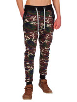 Young & Rich Herren Jungs Jogginghose Traininghose Sweatpants Hose 3318 khaki camouflage