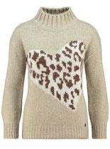 Key Largo Damen Frauen warme Pullover DESERT Tube Stehkragen langarm WKN00054 beige meliert