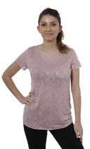 Key Largo Damen T-Shirt Top Oberteil Tunika DOT WT00076 kurzarm rosa rosewood