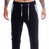 Young & Rich Baggy Jogging Hose Freizeithose Sweatpants 3318 schwarz