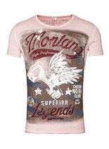 Key Largo Herren T-Shirt rundhals Vintage MONTANA round kurzarm MT00183 rosa dusty pink