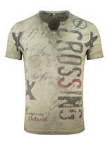 Key Largo Herren T-Shirt rundhals Vintage HIGHWAY kurzarm MT00286 mil.green grün