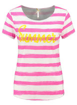 Key Largo Damen T-Shirt SUMMER round rundhals kurzarm gestreift WT00154 pink