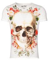 Key Largo Herren T-Shirt rundhals Vintage BRIGHT SMILE round kurzarm MT00192 offwhite