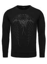 Key Largo Herren T-Shirt longsleeve Sweatshirt Pullover COBRA langarm MSW00066 schwarz
