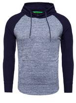 Key Largo Herren Pullover Longsleeve Sweatshirt Hoodie mit Kapuze BERT MSW00090 navy-blue