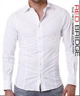Redbridge Herren Hemd Langarm R-2111 weiß