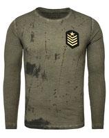 Key Largo Herren T-Shirt Longsleeve DESERT STORM Militär Style MLS00018 Vintage mil green