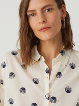 nice things Bluse Basic dots