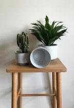 Übertöpfe grau Keramik