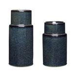 hübsch Keramik-Vase blau