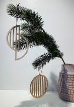 hübsch Holzanhänger rund