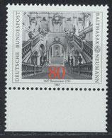 BRD 1307 postfrisch mit Bogenrand unten