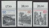 BERL 685-687 postfrisch mit Bogenrand oben