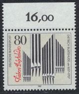 BRD 1323 postfrisch mit Bogenrand  oben
