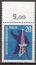 232 postfrisch mit Oberrand (RWZ 5,00) (BERL)