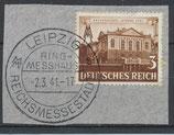 DR 764 gestempelt auf Briefstück
