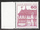 611 postfrisch mit Bogenrand links (BERL)
