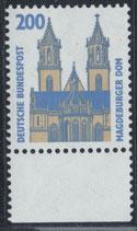 BRD 1665 postfrisch mit Bogenrand unten