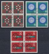 BRD 440-442  gestempelt Viererblock