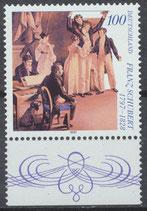 BRD 1895 postfrisch mit Bogenrand unten