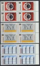 BRD 1164-1166 postfrisch Viererblocksatz mit Bogenrand rechts