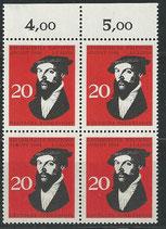BRD 439 postfrisch Viererblock mit Bogenrand oben