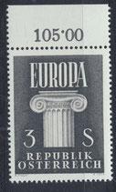 AT 1081 postfrisch mit Bogenrand oben (RWZ 105,00)