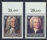 BRD 1248-1249 postfrisch mit Bogenrand oben